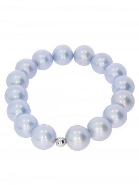 Muschelkernperle ø 12 mm hellblau, Armband auf Elastikband mit Geschenkbeutel, 1 St.