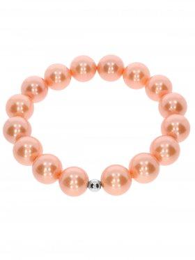 Muschelkernperle ø 12 mm orange, Armband auf Elastikband mit Geschenkbeutel, 1 St.