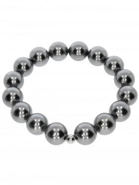 Muschelkernperle ø 12 mm silber 4, Armband auf Elastikband mit Geschenkbeutel, 1 St.
