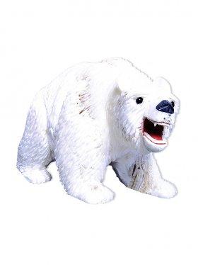 Aragonit aus Peru, Deko Eisbär, Unikat