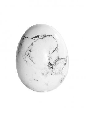 Magnesit aus Simbabwe, Deko Ei ca. 5 / 3,5 cm, VE 1 St.