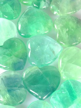 Fluorit grün, Deko-Herz