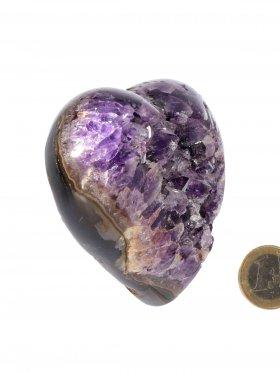 Kristallines Deko-Herz in Amethyst aus Brasilien, Unikat