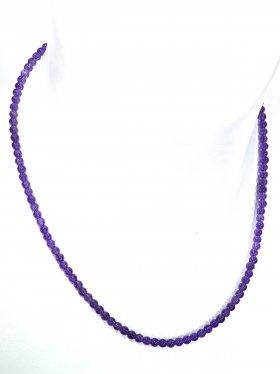 Amethyst Halskette Kugel ø 4 mm, Karabinerverschluss, Länge 42 cm