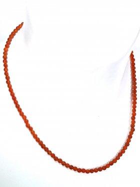 Karneol ø 4 mm, Halskette, L 42 cm, 1 Stück