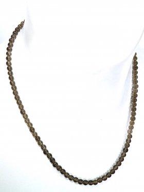 Rauchquarz ø 5 mm, Halskette, L 42 cm, 1 Stück