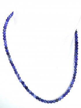 Sodalit ø 4 mm, Halskette, L 42 cm, 1 Stück