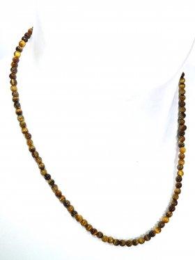 Tigerauge ø 4 mm, Halskette, L 42 cm, 1 Stück