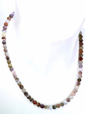 Botswana Achat Halskette Kugel ø 6 mm, Karabinerverschluss, Länge 42 cm