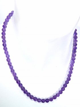 Amethyst Halskette Kugel ø 6 mm, Karabinerverschluss, Länge 42 cm
