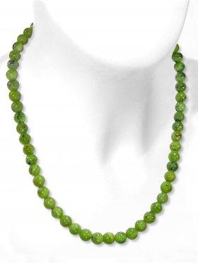 Jade Nephrit Halskette Kugel ø 8 mm, Karabinerverschluss, Länge 42 cm