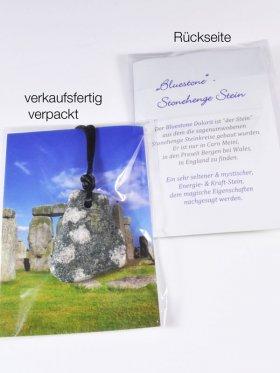 """""""Bluestone"""" Dolorit (Stonehenge-Stein genannt) , Anhänger mit Band"""