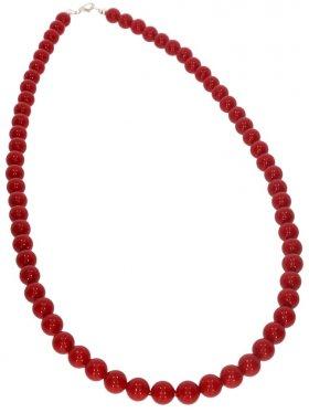 Muschelkernperle rot, Kette Kugel ø 6 mm, Länge ca. 43 cm, 1 St.