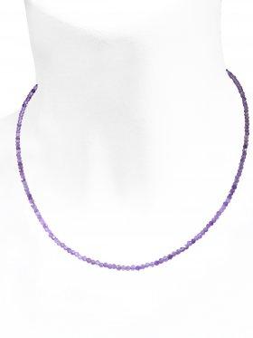 Amethyst Halskette, L 42 cm mit Verlängerungskettchen, 1 Stück