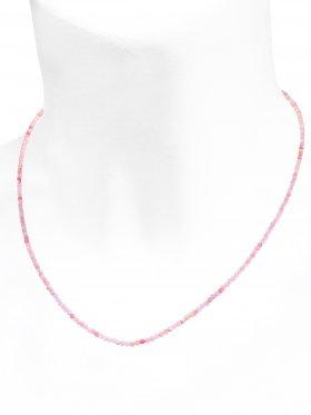 Andenopal pink Halskette, L 45 cm mit Verlängerungskettchen, 1 Stück