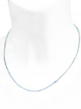 Aquamarin Halskette, L 40 cm mit Verlängerungskettchen, 1 Stück