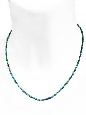 Chrysokoll Halskette, L 42 cm mit Verlängerungskettchen, 1 Stück