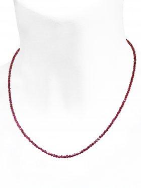 Granat Halskette, L 40 cm mit Verlängerungskettchen, 1 Stück