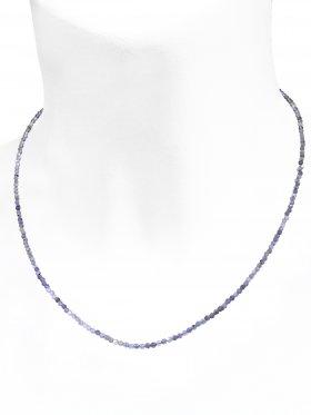 Iolit Halskette, L 42 cm mit Verlängerungskettchen, 1 Stück