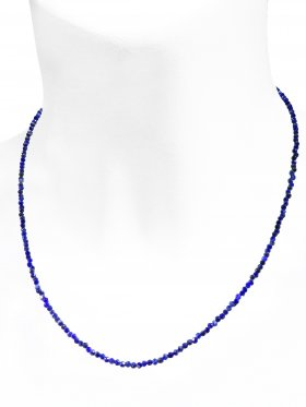 Lapis Halskette, L 40 cm mit Verlängerungskettchen, 1 Stück