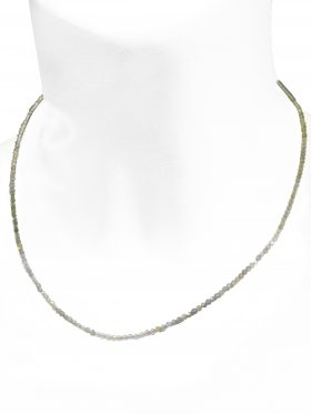 Labradorit Halskette, L 40 cm mit Verlängerungskettchen, 1 Stück
