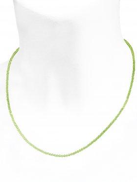 Peridot Halskette, L 42 cm mit Verlängerungskettchen, 1 Stück