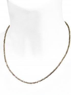 Rauchquarz Halskette, L 42 cm mit Verlängerungskettchen, 1 Stück
