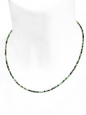 Rubin - Zoisit Halskette, L 42 cm mit Verlängerungskettchen, 1 Stück