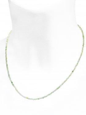 Smaragd / Beryll Halskette, L 42 cm mit Verlängerungskettchen, 1 Stück