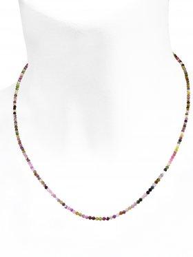 Turmalin bunt Halskette, L 40 cm mit Verlängerungskettchen, 1 Stück