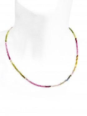 Turmalin mit Farbverlauf, L 42 cm mit Verlängerungskettchen, 1 Stück
