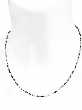 Turmalinquarz Halskette, L 42 cm mit Verlängerungskettchen, 1 Stück