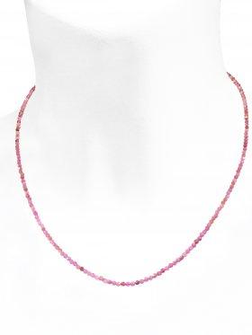Turmalin rosa Halskette, L 40 cm mit Verlängerungskettchen, 1 Stück