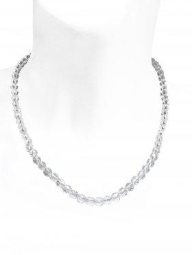 Bergkristall facettiert ø 6 mm, Halskette, L 43 cm zzgl. Verlängerungskettchen, 1 Stück