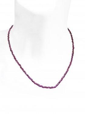 Granat Halskette, L 44 cm zzgl. Verlängerungskettchen, 1 Stück