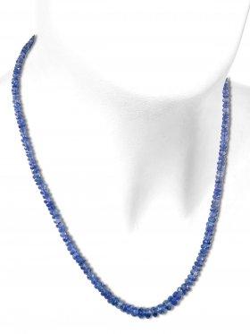 Disthen aus Brasilien, Kette mit 925 Silber Karabinerverschluß, Länge 42 cm