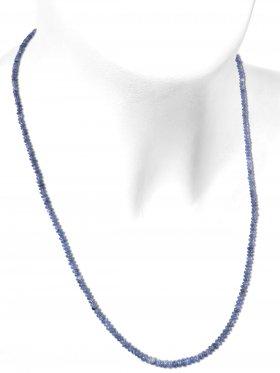 Disthen aus Brasilien, Kette mit 925 Silber Karabinerverschluß, Länge 50 cm