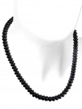 Onyx aus Brasilien, Kette mit 925 Silber Karabinerverschluß, Länge 43 cm, ø 8 mm