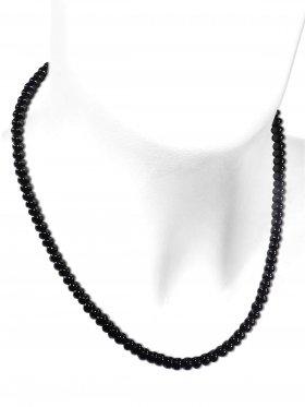 Onyx aus Brasilien, Kette mit 925 Silber Karabinerverschluß, Länge 43 cm, ø 6 mm