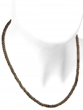 Rauchquarz aus Brasilien, Kette mit 925 Silber Karabinerverschluß, Länge 43 cm, ø 4 mm