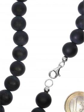 Onyx matt aus Brasilien, Kette mit 925 Silber Karabinerverschluß, Länge 42 cm