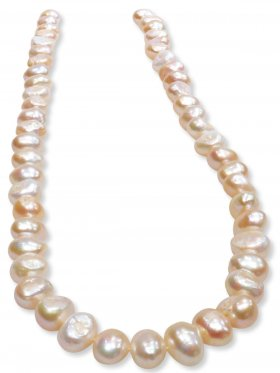 Perle barock gefärbt. ø 9- 10, Strang