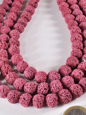 Lava Pink gefärbt, Kugel, Strang