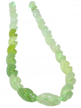 Serpentin, Olive gezwirbelt, Strang ca. 41 cm, 1 St.