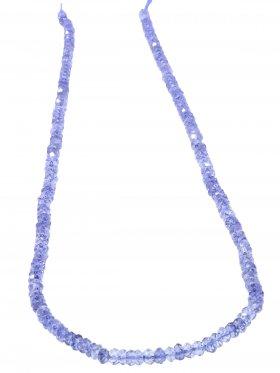 Iolit, Linse facettiert ø 3,5 mm, Strang ca. 40 cm, 1 St.