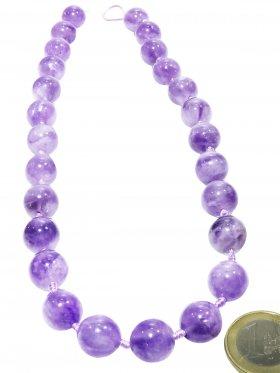 Lavendel - Amethyst, Kugel ø 13 mm, Strang ca. 43 cm, Unikat