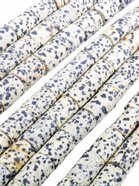 Dalmatinerstein matt, Röhrchen Stränge in verschiedenen Größen