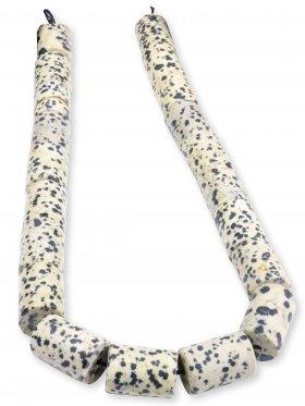 Dalmatinerstein aus Mexiko, Röhrchen Strang 14/21 mm