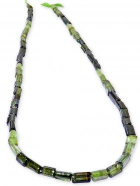 Turmalin grün aus Brasilien, Röhrchen Strang