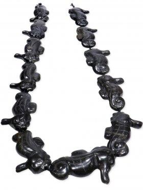 Basalt, Seepferdchen Strang, Unikat